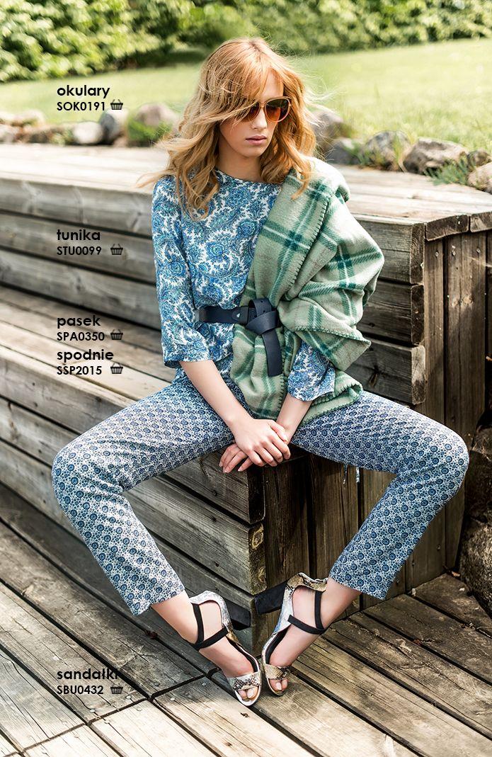 Modne #spodnie damskie we wzory #boho