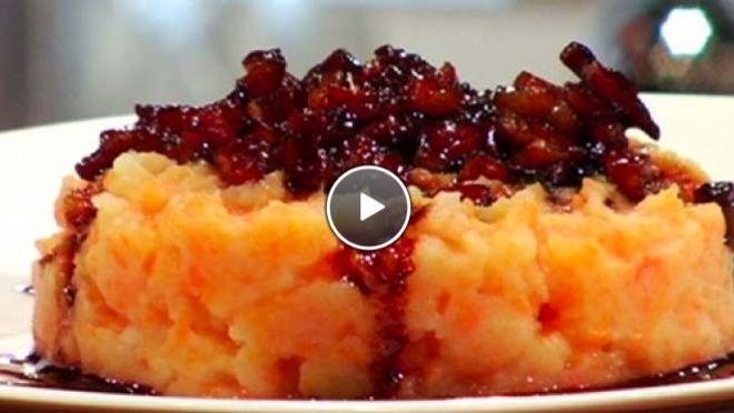 Hutspot met gekaramelliseerde spekjes - recept | 24Kitchen