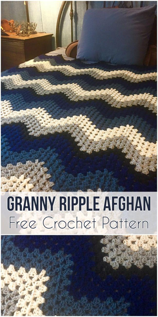 Granny Ripple Afghan Free Pattern Crochet Afghans And Blanket