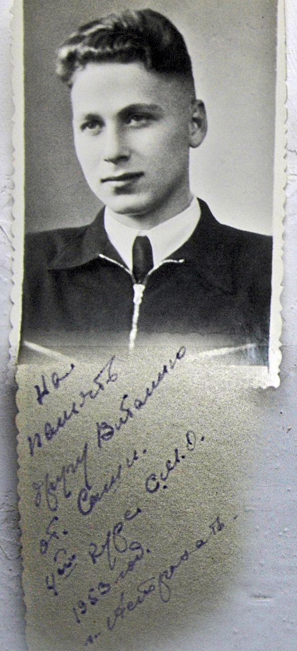 Sovjetunionen. Gammalt foto. Cadet sjöman Astrakhan Marine College.