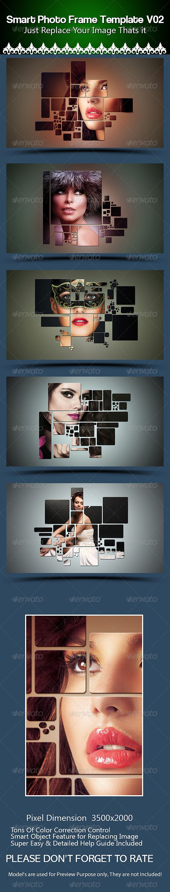 Smart  Photo Frame Template PSD #design Download: http://graphicriver.net/item/smart-photo-frame-template-v02/8147670?ref=ksioks