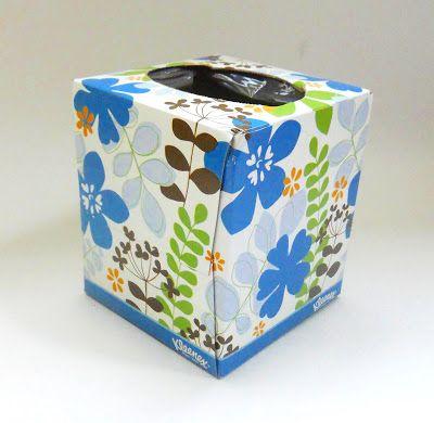 Hometalk :: DIY Note Pad Holder From Empty Tissue Box