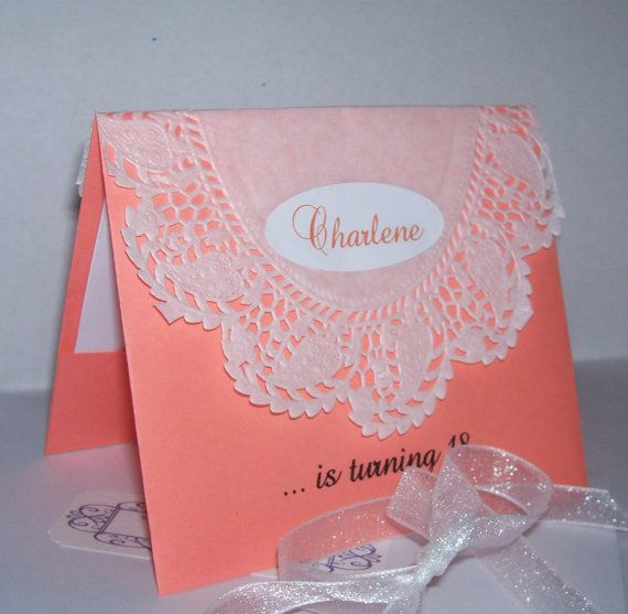 Best 25 debut invitation ideas on pinterest debut invitation customized 30 pcs lace tent card debut invitation by gypsyrock 11000 stopboris Choice Image