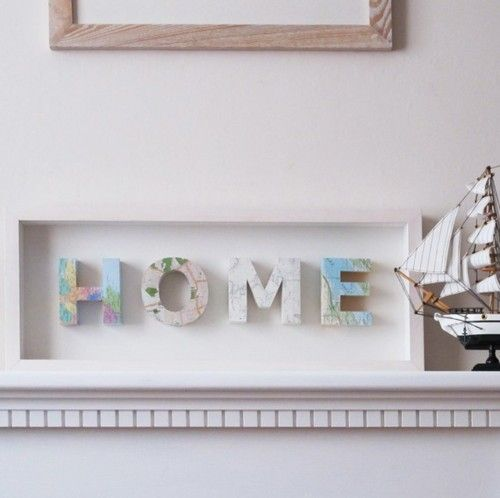 would make a great housewarming gift: Map Letters, Maps, Map Idea, Craft Diy Ideas, Homes, Craft Ideas, Diy Projects