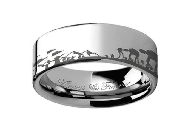 Ring Paradise tungsten men's wedding band -