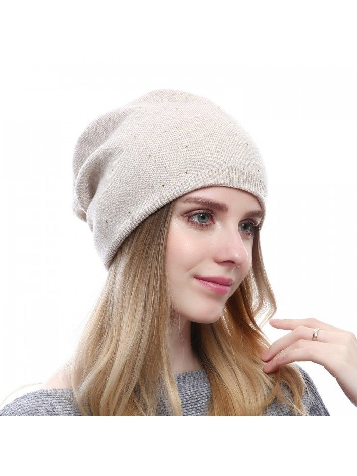 6f438d3411f80 Winter Cap For Women - Warm Wool Hat Cashmere Caps Knit Solid Beanies Hats  - Style2-beige - CV185TI8X40 - Hats   Caps
