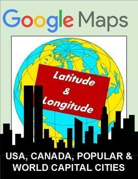 These latitude and longitude worksheets can be used with Google Maps, Google Earth or other maps. Students are to find the capital city or country located at each set of coordinates.