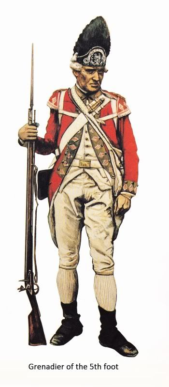 AWI British: Grenadier, 5th Foot, (artist unknown). Help eliminate poor pinning! If you know the artist and can supply a link, please update this pin. Thank you!