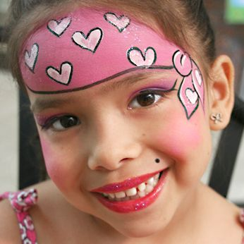 Pirate Face Painting for Girls