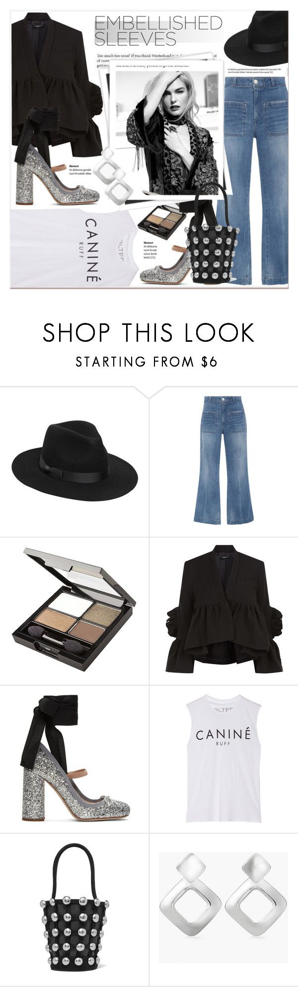 """""""#embellishedsleeves"""" by stylemeup-649 ❤ liked on Polyvore featuring Lack of Color, AMO, Ÿù, Revlon, Rachel Comey, Miu Miu, Brian Lichtenberg, GALA, Alexander Wang and Chico's"""