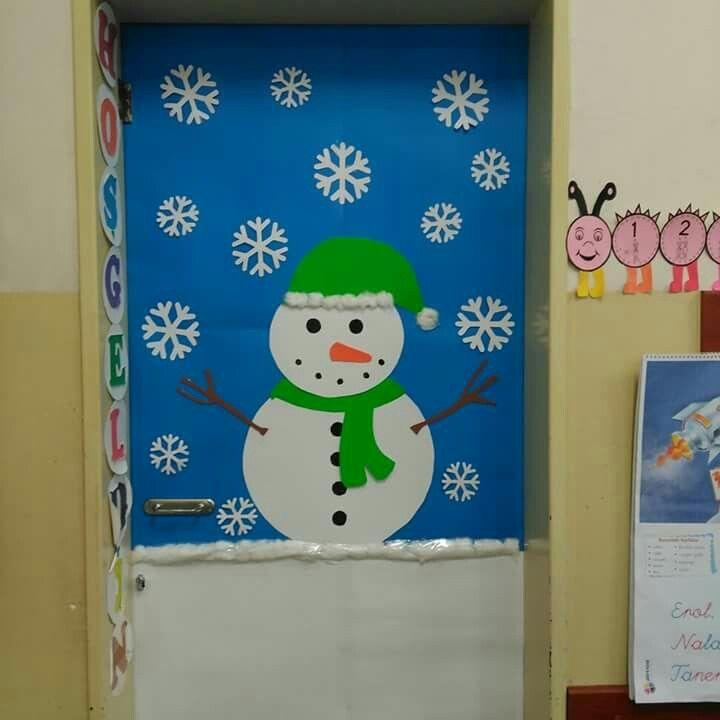 Kış mevsimi kapı süsü