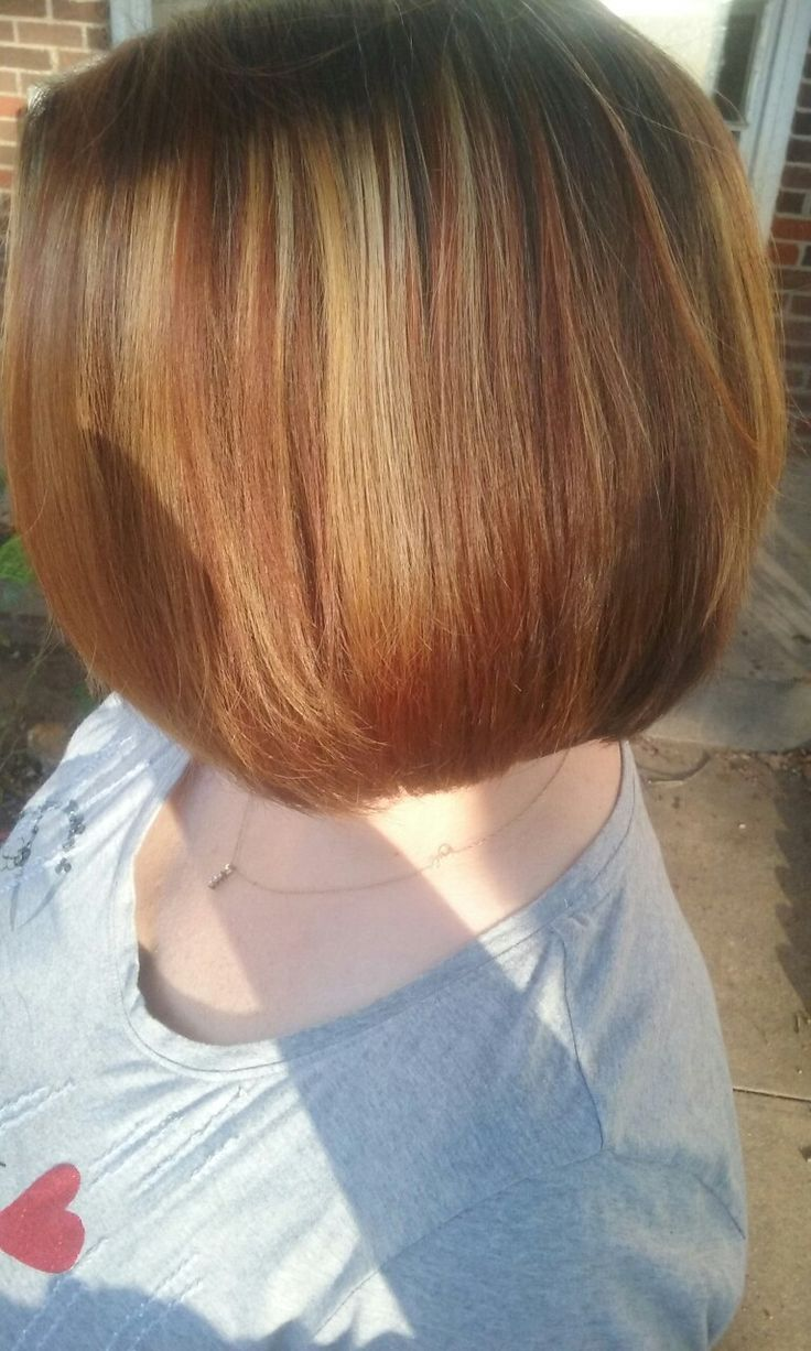 Blonde and cinnamon Hair color by Rickie Mayberry