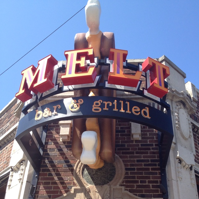 Melt Bar and Grilled, Lakewood, Ohio. I always get the North Coast Shores (crab cake grilled cheese!!!). Amazing beer selection.