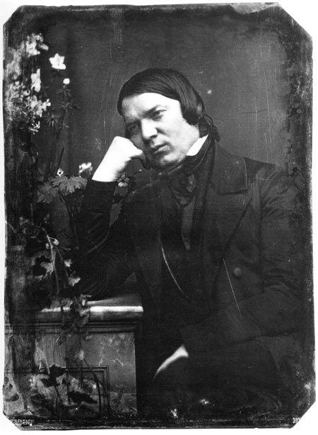 Schumann em um daguerreótipo de 1850, por Johann Anton Völlner