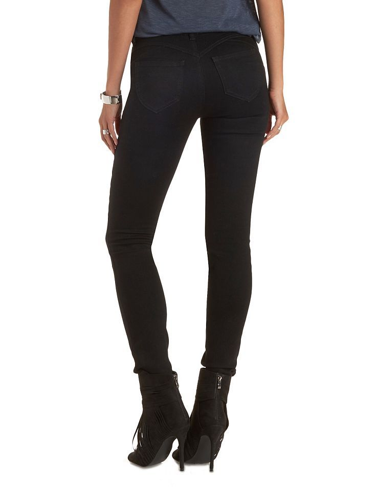 "Refuge ""Push Up Legging"" Lifting Skinny Jeans - Black 
