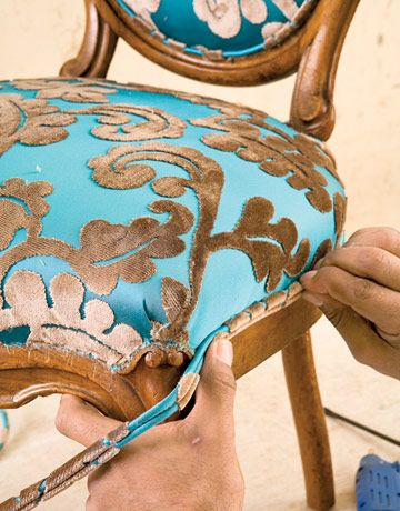 summer coat How to Reupholster Dining Room Chairs   Do It Yourself Furniture Reupholstery   Country Living slide 4