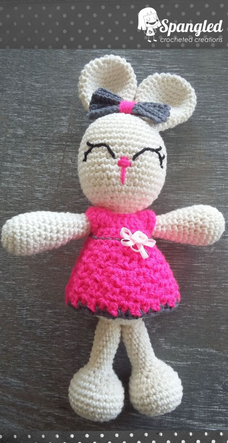 Sweet Bunny Amigurumi by SpangledCrochet on Etsy