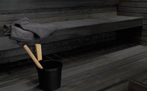 Dark sauna. Tikkurila.