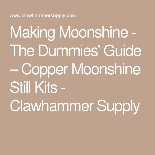 What are the federal laws about making moonshine?