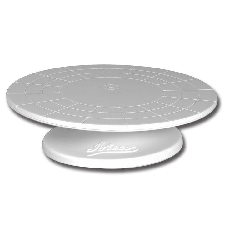 "Ateco 610 12"" Revolving Plastic Cake Stand (August Thomsen)"