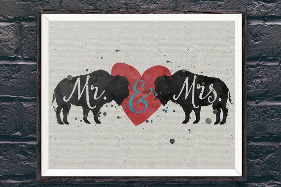 Buffalove Handlettered Typographic Buffalo Bills by FiveCentStudio