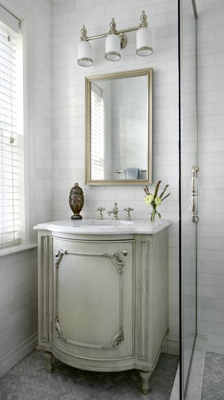 For A Fresh Look In The Bathroom Top Vintage Inspired Vanity With Classic French ProvincialIn FrenchGold CoastDesign FirmsWhite