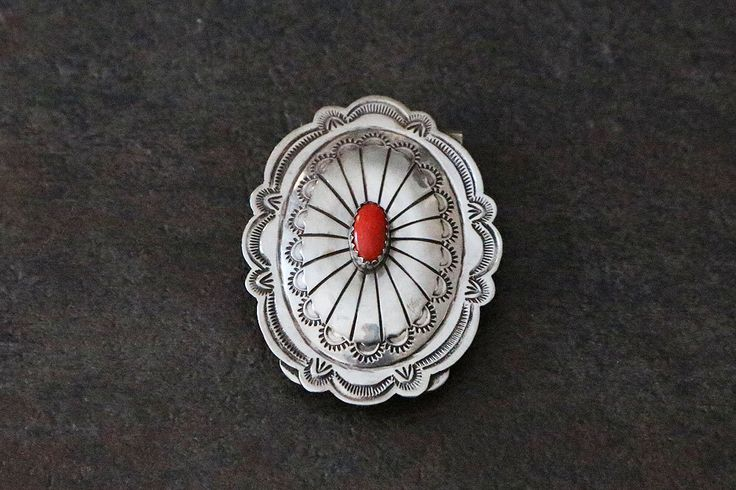 Navajo Silver & Coral Money Clip  A personal favorite from my Etsy shop https://www.etsy.com/listing/265789931/native-american-navajo-sterling-money