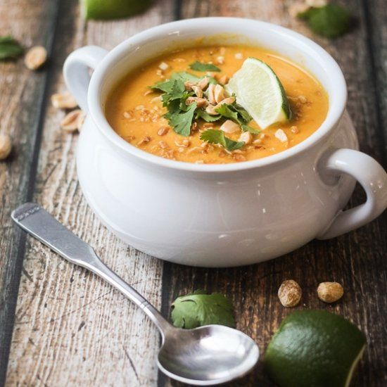 Thai Sweet Potato & Carrot Soup - you're going to want to make a double batch.