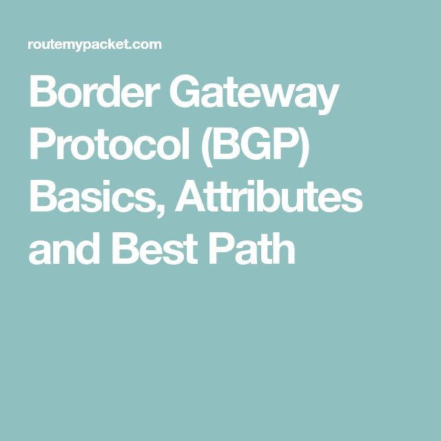 Border Gateway Protocol (BGP) Basics, Attributes and Best Path