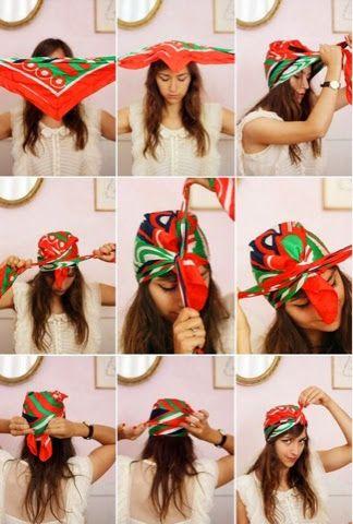 Depois de ter falado de ideias para colocar lenços na cabeça , não podia deixar de partilhar este tutorial que encontrei na internet, que...