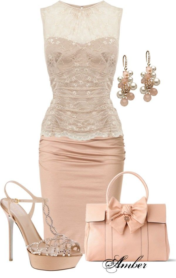 21 Lovely Looks for Summer Weddings - this pretty blush colored outfit is just perfect!