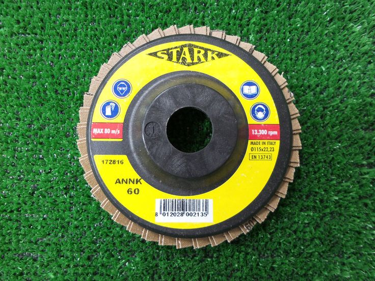 Disco abrasivo cartavetro a lamelle diametro mm. 115x22 grana 60