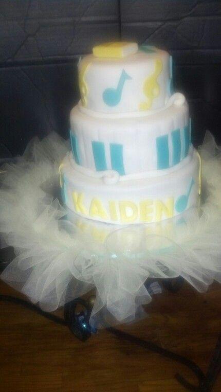 Love Tutu Skirt Around Cake! Music Baby ShowersThemed ...