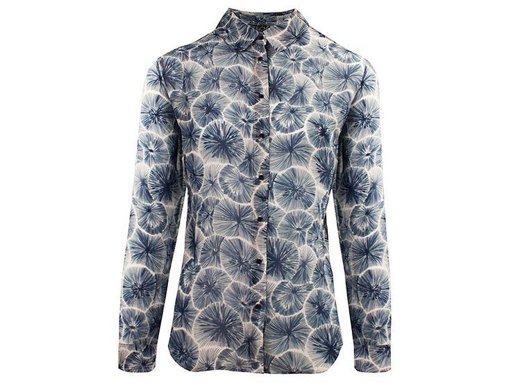 Heerlijke viscose blouse van Zilch met een mooie dandelion print. #zilch #zilchamsterdam #weidesign #dandelion #print #fashion
