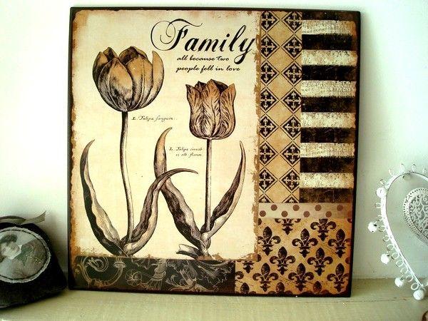 Plaques murales r tro ou cosy faites votre choix plaques d coratives pin - Plaques decoratives murales ...
