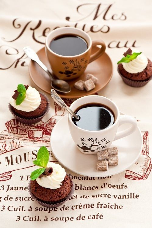 CafeFrench Cafes, Coffe Time, Coffe Lovers, Teas, Coffe Breaking, Coffee Time, Black Coffe, Breakfast Cupcakes, Coffee Cupcakes