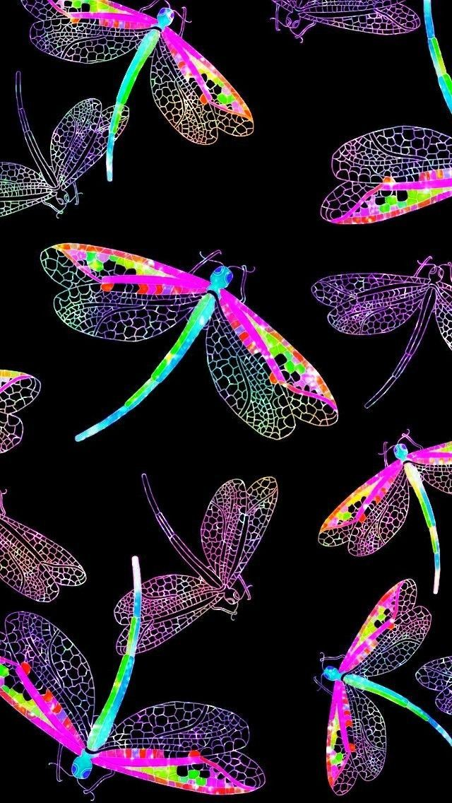Vibrant Dragonflies Made By Me Takinggreatpicswithaniphone Dragonfly Wallpaper Butterfly Wallpaper Holographic Wallpapers