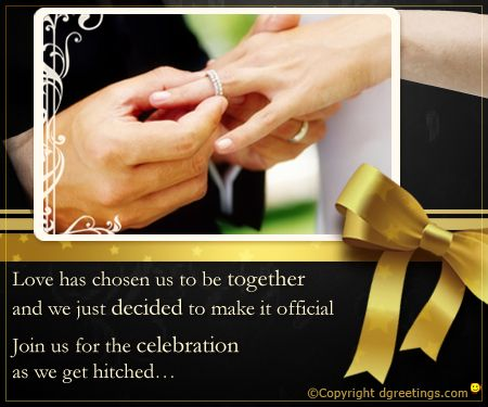 Dgreetings - Invite your near & dear ones in Engagement Party through this card.