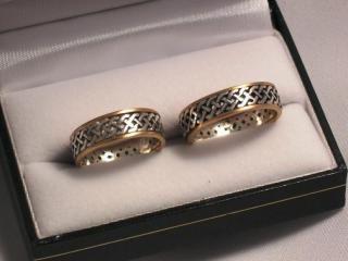 Alianzas de boda celtas caladas11-030, Producto de Orkney Joyas sobre Alianzas en Buenos Aires - Casamientos Online