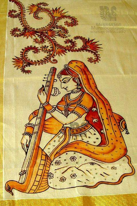 89 best fabric painting images on pinterest fabric for Aithihya mural painting fabrics