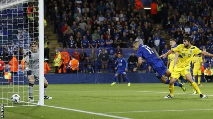 Islam Slimani scores for Leicester
