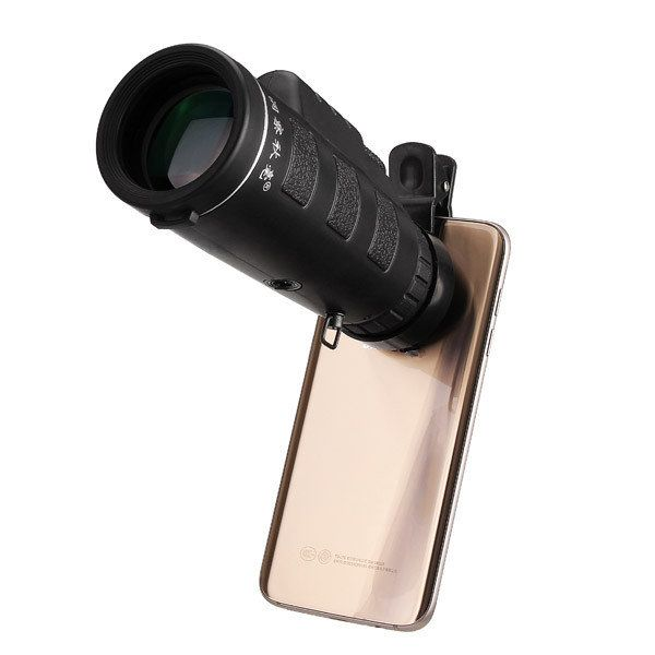 Universal 10x40 Hiking Concert Camera Lens Monocular+Phone Clip For Smartphone Sale - Banggood Mobile