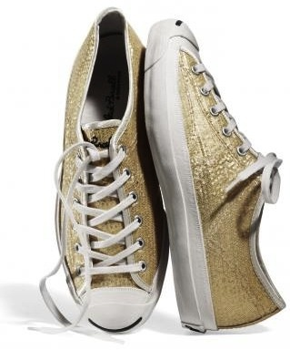 gold sequin Converse sneakers