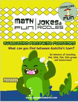 Printables Evaluating Piecewise Functions Worksheet 1000 images about math piecewise functions on pinterest in this fun worksheet students answer a riddle by evaluating its great for algebra 2 and pre calculus i