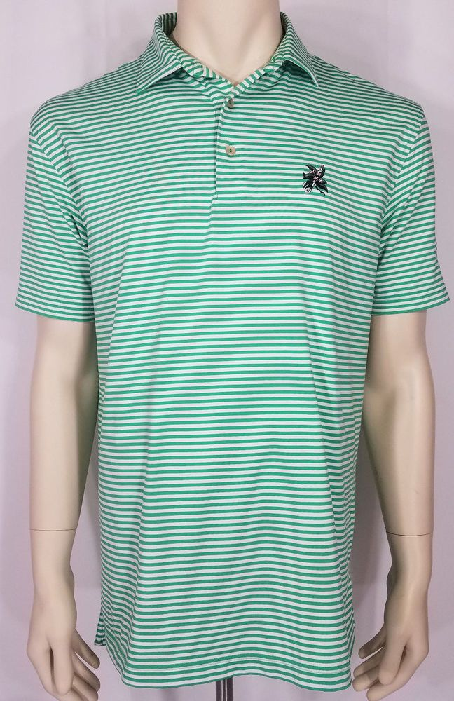 215f0cefdd8 Peter Millar Summer Comfort green white striped short sleeve polo shirt  Medium  fashion  clothing  shoes  accessories  mensclothing  shirts (ebay  link)