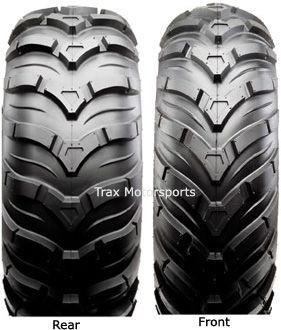 ATV Mud Tire Wheel Kit Ancla 26 on Black Steel Rims