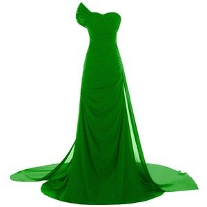 Sunvary Asymmetrical Long Chiffon Prom Gowns Bridesmaid Dress with Sleeves