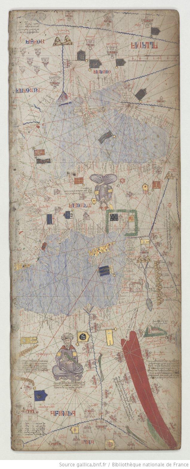 Map Of Poitiers%0A Egypte  Turquie    Atlas catalan ex  cut   vers      VILADESTES  Meci