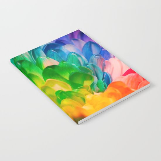 Rainbow Flower #1 Notebook by Squibble
