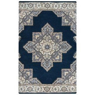 Shop for Arden Loft Crown Way Indigo Blue/ Shades of Navy Blue Oriental Hand-tufted Wool Area Rug (2'6' x 10'). Get free shipping at Overstock.com - Your Online Home Decor Outlet Store! Get 5% in rewards with Club O! - 17622700